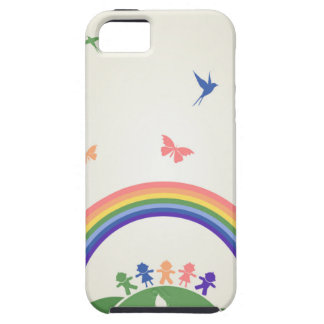 Children rainbow case for the iPhone 5