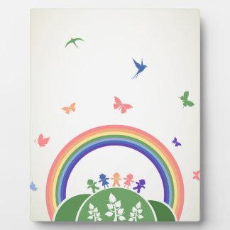 Children rainbow display plaques