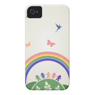 Children rainbow iPhone 4 cases