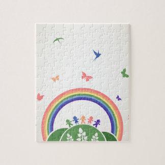 Children rainbow jigsaw puzzle