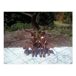 Children Reading Lovely Postcard