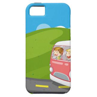 Children riding in a van iPhone 5 cases