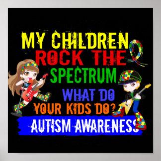 Children Rock The Spectrum Autism Posters