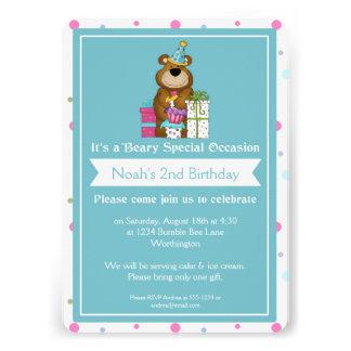 Children s Birthday Party Teddy Bear d1 Cards