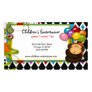 Children s Entertainer Business Cards