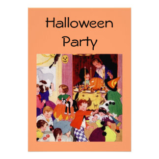 Children s Halloween Party Custom Invitations