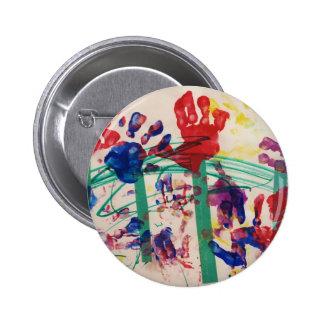 Children s handprint Garden Pinback Button