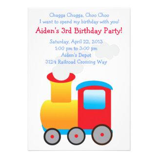 Children s Train Party Invitation