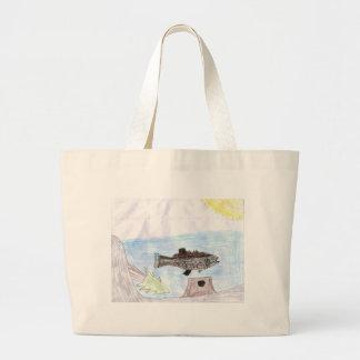 Children s Winning Artwork bass Canvas Bags
