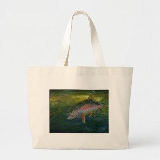 Children s Winning Artwork brook trout Canvas Bag