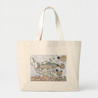 Children s Winning Artwork brook trout Tote Bag
