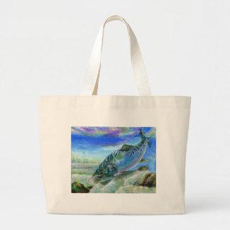 Children s Winning Artwork salmon Tote Bags
