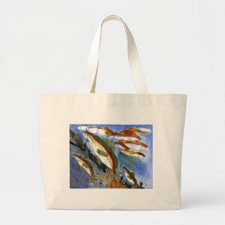 Children s Winning Artwork trout Canvas Bag