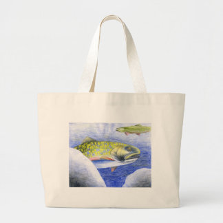 Children s Winning Artwork Trout Tote Bags