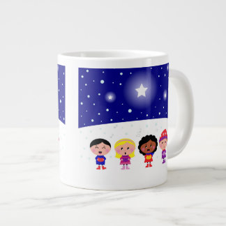 Children Singing Christmas Carols Jumbo Mug
