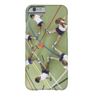 Children sitting on the floor of a sports hall barely there iPhone 6 case