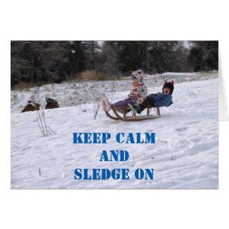 Children sledging card