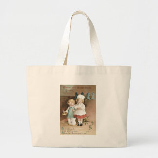 Children Stockings Holly Candle Jumbo Tote Bag