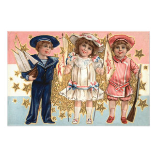 Children Uniform Stars & Stripes Photograph