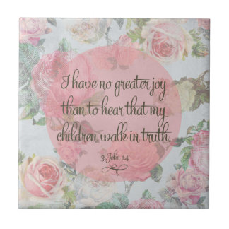 Children Walk in Truth Ceramic Tile