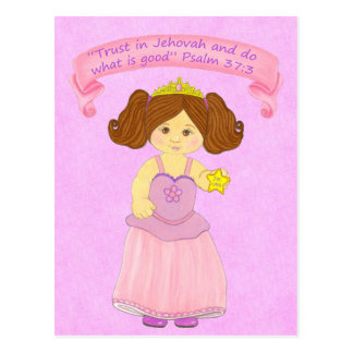 Children Walk in Truth~Princess~Scripture Postcard