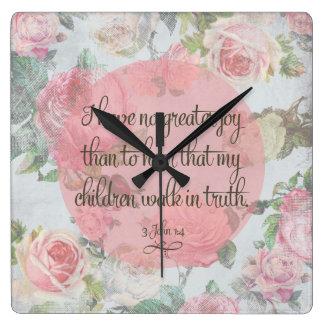 Children Walk in Truth Wall Clocks