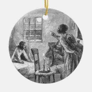 Children Wide Awake on Christmas Eve Ceramic Ornament