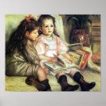 Children with Books Renoir Print