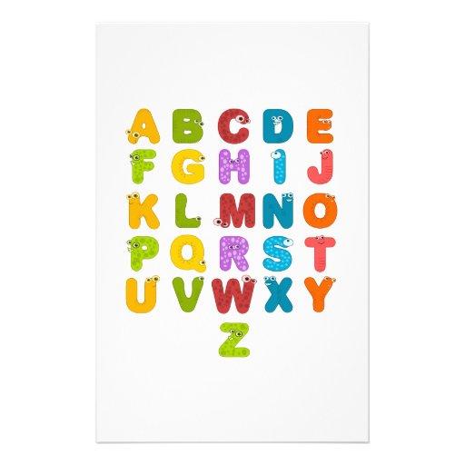 Children's Alphabet Stationery Design
