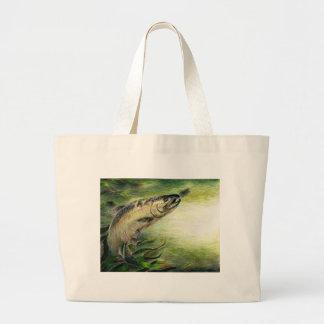 Children's Artwork: Trout Jumbo Tote Bag