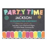 Children's Birthday Invitation - Party Time