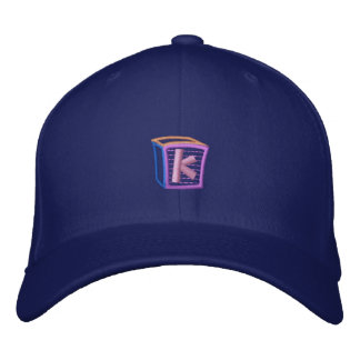 Childrens Block K Embroidered Hat