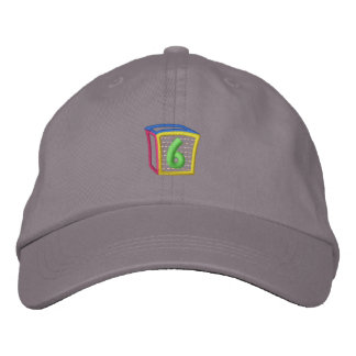 Childrens Block Puff 6 Embroidered Hat