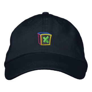 Childrens Block Puff X Embroidered Hat