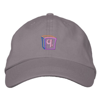 Childrens Block Q Embroidered Hat