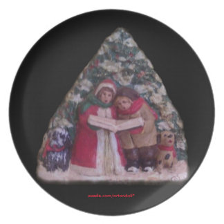 CHILDREN'S CAROLS 113 CHRISTMAS VILLAGE  PLATE