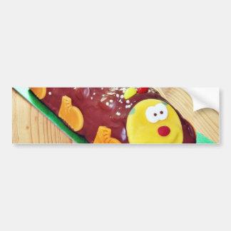 Childrens Chocolate Cake In Caterpillar Shape Bumper Stickers