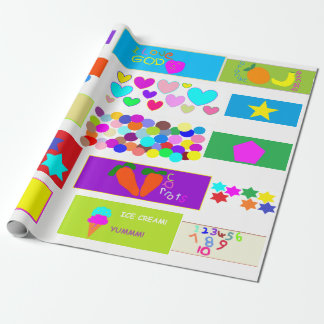 Childrens' Christian Wallpaper Wrapping Paper