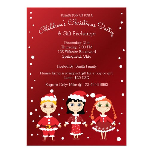 Christmas Children Party: Group Holiday Party Invitations, 42 Group Holiday Party