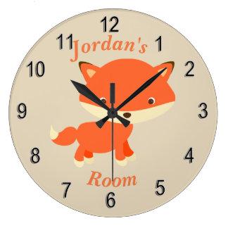 Children's Clock Cute Baby Fox