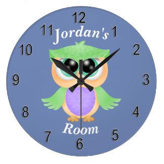 Children's Clock Cute Baby Owl