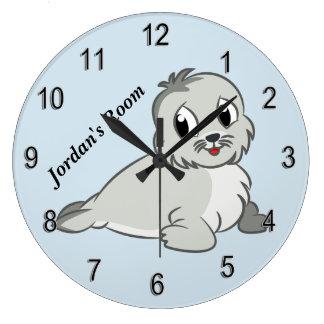 Children's Clock Cute Baby Seal