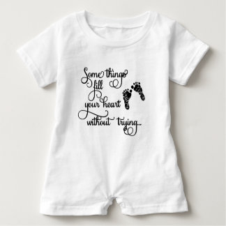 Children's Clothing with Footprints Baby Bodysuit