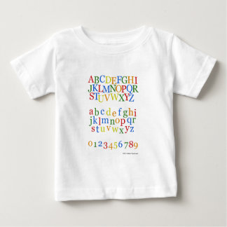 Children's Colorful Alphabet Upper + Lower Case Baby T-Shirt