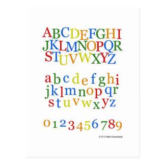 Children's Colorful Alphabet Upper + Lower Case Postcard