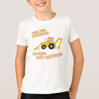 Children's construction worker yellow t-shirt