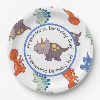 Children's Dinosaur Pattern Birthday Party Paper Plate
