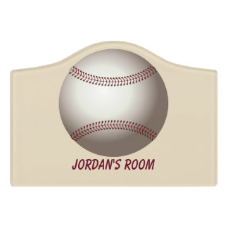 Children's Door Sign Baseball
