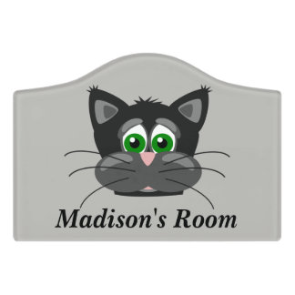Children's Door Sign Cute Cat