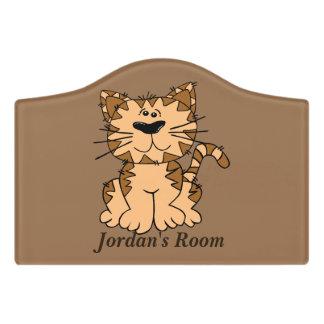 Children's Door Sign Cute Tabby Kitten